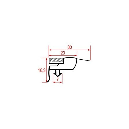 Garnitura magnetica profil 1005