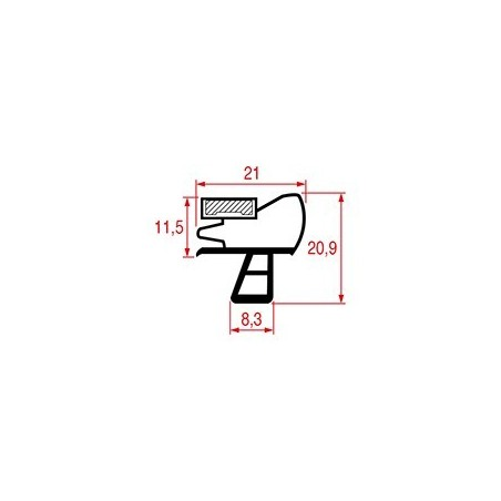 Garnitura magnetica profil 1076